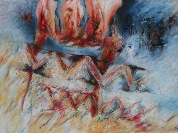 Schilderij door Betty van Rossem